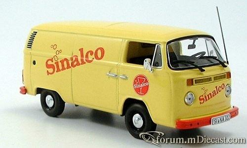 VW Bully T2, Kasten, Sinalco 1972 Minichamps