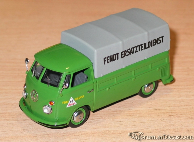 VW Bus T1 Pick-up with tarpaulin Fendt Schuco