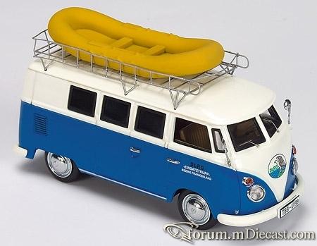 VW Bus T1 DLRG mit Schlauchboot Schuco