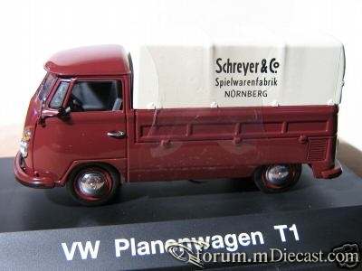 VW T1 Planenwagen Schuco