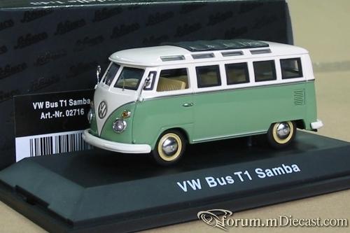 VW T1 Bus Samba grün/weiß Schuco