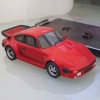 porsche carrera red 1-43 built resin kit PROVENCE
