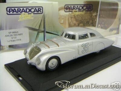 ADLER  LE MANS 1938 PARADCAR