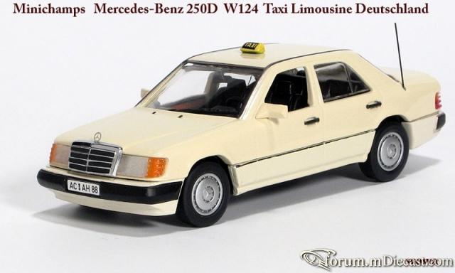 Mercedes-Benz W124 Sedan 1990 250D Taxi Minichamps