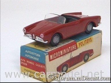 Alfa Romeo Giulietta Spider 1958 Politoys.jpg