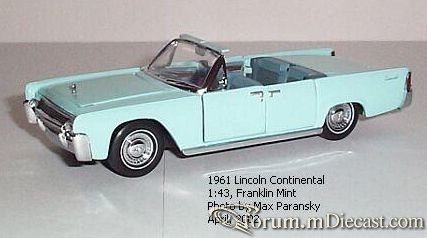 Lincoln Continental 1961 Cabrio Franklin Mint.jpg