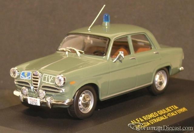 Alfa Romeo Giulietta Polizei Italien 1958