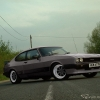 ford capri mk3 x-pack, minilites wheels