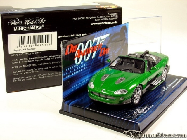 Jaguar XK8 Serie 1 James Bond Car Minichamps