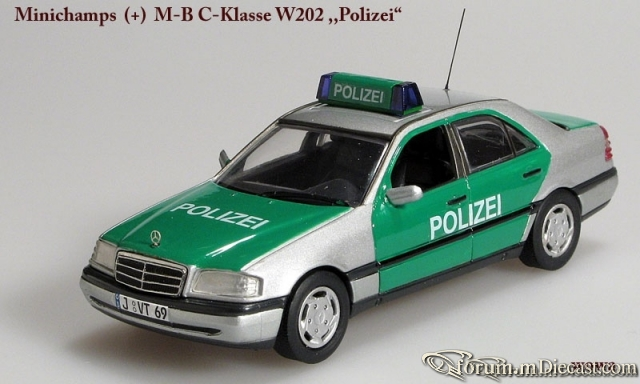 Mercedes-Benz W202 Sedan 1993 Polizei Minichamps/Conversion