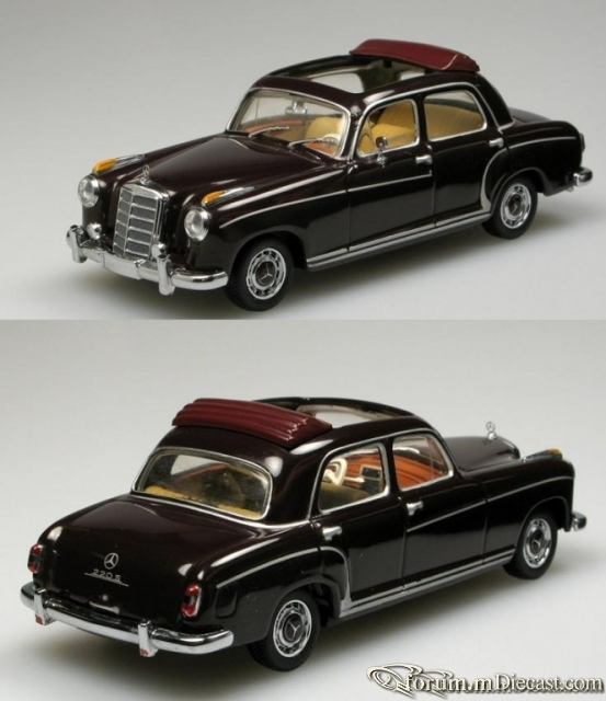 Mercedes-Benz W180 Sedan 220S Open Roof Minichamps