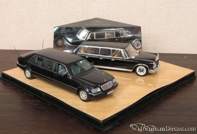 Mercedes-Benz SET W100 6-door limousine+W140 Pullman Vitesse