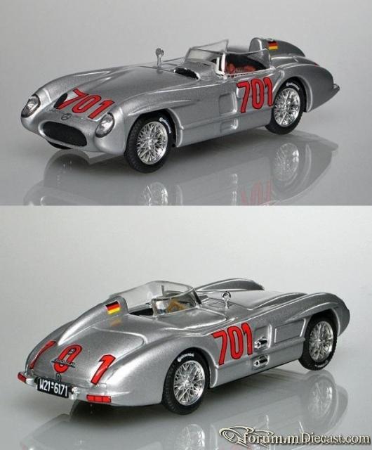 Mercedes-Benz W196 300 SLR Mille Miglia 1955 Karl Kling Brum
