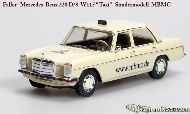 Mercedes-Benz W115 220D Taxi Sondermodel MBMC 1999 Faller