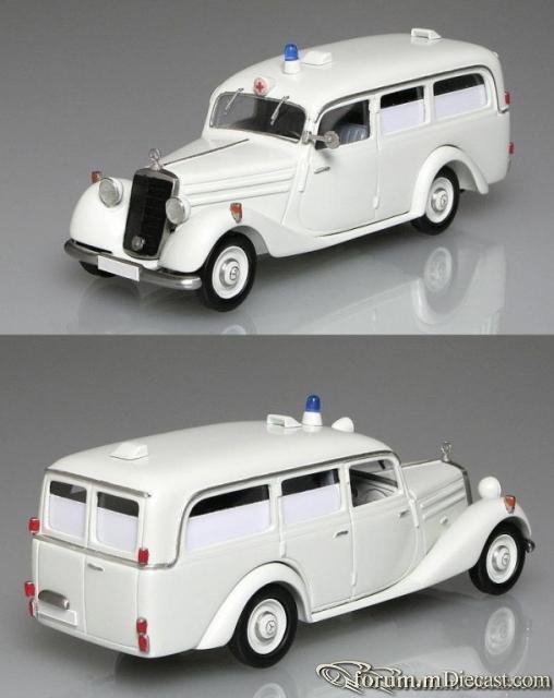 Mercedes-Benz W136 IV 170 V Krankenwagen Miesen 1952-1953 Ку