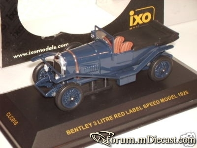 Bentley 3 Litre Red Label Speed Model 1926 IXO