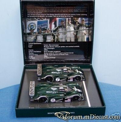 Bentley Le Mans 2003 EXP Speed 8 Minichamps SET