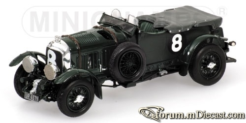 Bentley Le Mans 1930 4 1.2 Supercharged Blower Minichamps