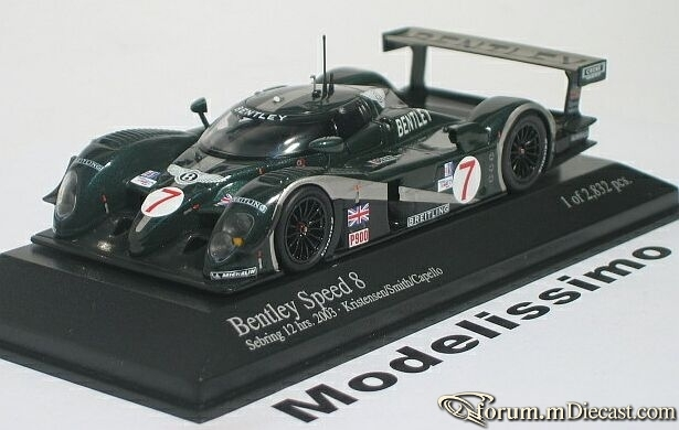 Bentley Speed 8 Sebring 24h 2003 Minichamps