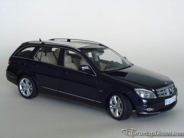 Mercedes C-Class (W204) T-Model Avangarde 2007 darkblue-meta