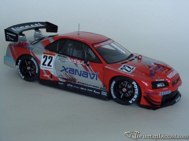 Nissan Skyline R34 No.22, Xanavi Nismo GT-R 2002 Auto Art