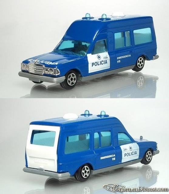 Mercedes-Benz W123 Policia Ambulance Norev