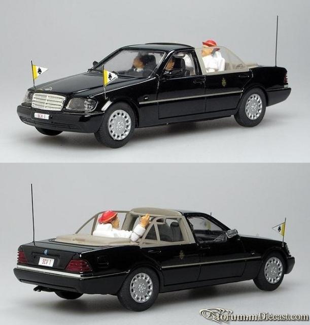 Mercedes-Benz W140 S-klasse 1997 S500 Papamobil Papa Benedet
