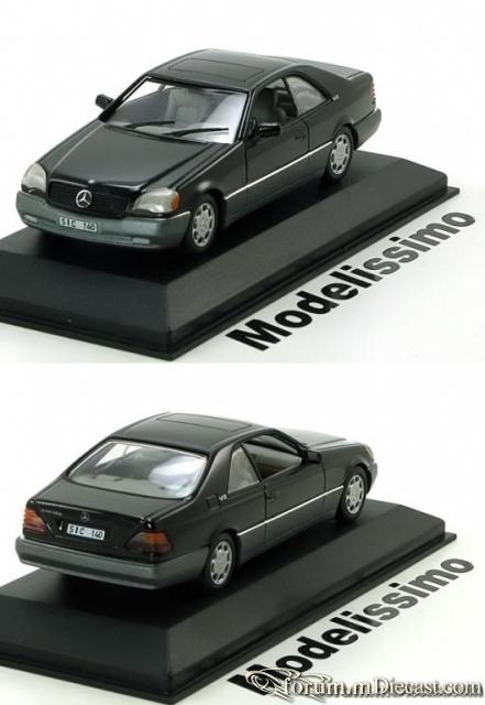 Mercedes-Benz W140 S-klasse Coupe 1992 600 SEC Minichamps
