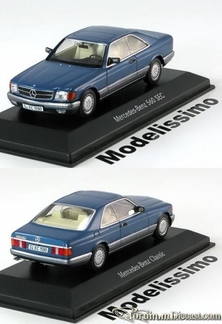 Mercedes-Benz W126 Coupe 1985 560 SEC Minichamps