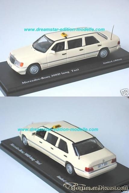 Mercedes-Benz W124 Sedan 1990 6-door Limousine 300D Taxi Han