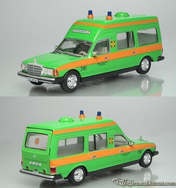 Mercedes-Benz W123 300D Ambulance ASB Norev
