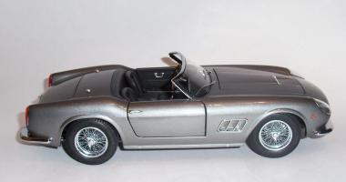 Прикрепленное изображение: Ferrari 250 GT California SWB 1958 Grey metallic - Hot wheels Elite (1).JPG