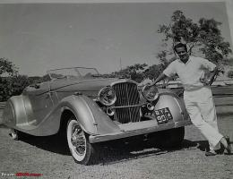 Прикрепленное изображение: Sheikh Mukhtar with his Gurney Nutting Duesenberg Bombay Amer Ahmad5.jpg