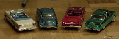 Прикрепленное изображение: Buick Electra \'59, Pontiak Bonneville \'58, Ford Fairline Crown Vic \'55 и Continental Mark II \'56.jpg