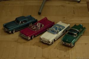 Прикрепленное изображение: Buick Electra \'59, Pontiak Bonneville \'58, Ford Fairline Crown Vic \'55 и Continental Mark II \'56, 1.jpg