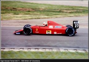 Прикрепленное изображение: Nigel Mansell Ferrari 640 F1. 1989 British GP Silverstone.jpg
