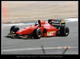 Прикрепленное изображение: Jean Alesi Ferrari 412T F1.1994 British GP Silverstone..jpg