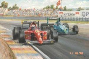Прикрепленное изображение: Alain Prost driving a Ferrari 1-90 in the 1990 French Grand Prix at Paul Ricard.jpg