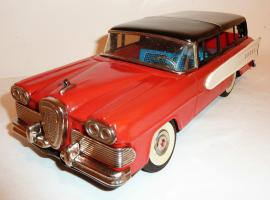 Прикрепленное изображение: NOMURA - TN Japanese Tin Litho Friction 1958 EDSEL 2-Dr STATION WAGON.JPG