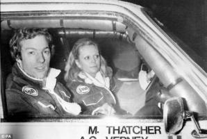Прикрепленное изображение: Prime Minster Margaret Thatcher's 28-year-old son Mark, and his co-driver Anne-Charlotte Verney during th.jpg