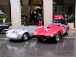 Прикрепленное изображение: #334 Porsche 550 Spyder & #209 Ferrari 275 Sport 340 America.JPG