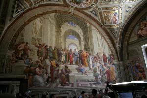 Прикрепленное изображение: IMG_ 032 - Музеи Ватикана. Станцы Рафаэля. Афинская школа.jpg