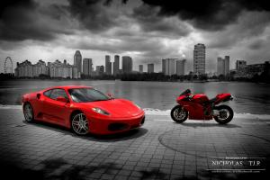 Прикрепленное изображение: gallery_ferrari_f430_vs_ducati_1098s_003.jpg