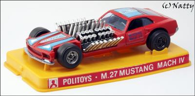 Прикрепленное изображение: 1969 Ford Mustang Mach IV Gary Weckesser Dragster - Politoys Polistil - M.27 - 1_small.jpg