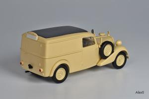 Прикрепленное изображение: Mercedes-Benz W136 1937 170 V Kasten-Lieferwagen Deutsche Afrika Korps Кузнецов 040 2.jpg