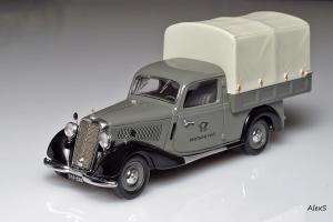 Прикрепленное изображение: Mercedes-Benz W136 170 V Planenwagen Deutsche Post Schuco 88-11 1.jpg