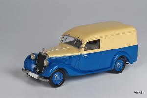 Прикрепленное изображение: Mercedes-Benz W136 1949 170 V Kasten-Lieferwagen Aufbau Sindelfingen Кузнецов 050 1.jpg