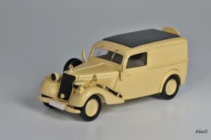 Прикрепленное изображение: Mercedes-Benz W136 1937 170 V Kasten-Lieferwagen Deutsche Afrika Korps Кузнецов 040 1.jpg