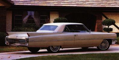 Прикрепленное изображение: `64 Cadillac Coupe De Ville Rear View.jpg