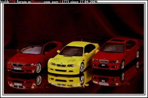 Прикрепленное изображение: AutoArt_BMW_M3__E46____Kyosho_BMW_M3__E92____Minichamps_BMW_M3_GTR.jpg